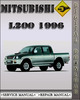 Thumbnail 1996 Mitsubishi L200 Factory Service Repair Manual