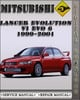 Thumbnail 1999-2001 Mitsubishi Lancer Evolution VI EVO 6 Factory Service Repair Manual 2000