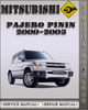Thumbnail 2000-2003 Mitsubishi Pajero Pinin Factory Service Repair Manual 2001 2002
