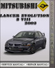 Thumbnail 2003 Mitsubishi Lancer Evolution 8 VIII Factory Service Repair Manual