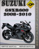 Thumbnail 2008-2010 Suzuki GSXR600 Factory Service Repair Manual 2009