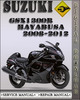 Thumbnail 2008-2012 Suzuki GSX1300R Hayabusa Factory Service Repair Manual 2009 2010 2011