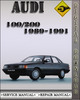 Thumbnail 1989-1991 Audi 100 200 Factory Service Repair Manual 1990