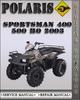Thumbnail 2003 Polaris Sportsman 400 500 HO Factory Service Repair Manual