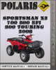 Thumbnail 2008 Polaris Sportsman X2 700 800 EFI 800 Touring Factory Service Repair Manual