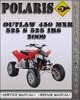 Thumbnail 2009 Polaris Outlaw 450 MXR 525 S 525 IRS Factory Service Repair Manual