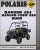 Thumbnail 2009 Polaris Ranger 4X4 Ranger Crew 6X6 Factory Service Repair Manual