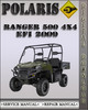 Thumbnail 2009 Polaris Ranger 500 4X4 EFI Factory Service Repair Manual