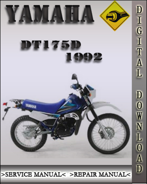 1992 yamaha dt175d factory service repair manual. Black Bedroom Furniture Sets. Home Design Ideas