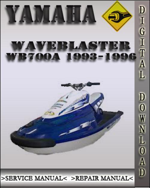 1993 1996 yamaha waveblaster wb700a factory service repair manual 1 rh tradebit com Yamaha Jet Ski 650 1996 1996 yamaha 1100 jet ski manual