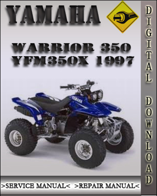 1997 yamaha warrior 350 yfm350x factory service repair. Black Bedroom Furniture Sets. Home Design Ideas
