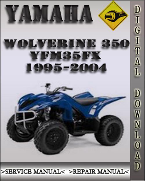 1995 2004 yamaha wolverine 350 yfm35fx factory service. Black Bedroom Furniture Sets. Home Design Ideas