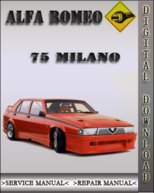 alfa romeo 75 milano 3 0 2 5 v6 service repair manual download ma rh tradebit com alfa romeo 75 workshop manual Alfa 75 V6 Clutch