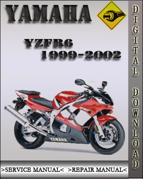 1999 2002 yamaha yzfr6 factory service repair manual 2000. Black Bedroom Furniture Sets. Home Design Ideas