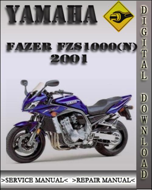 yamaha fazer fzs1000 n 2001 service repair manual
