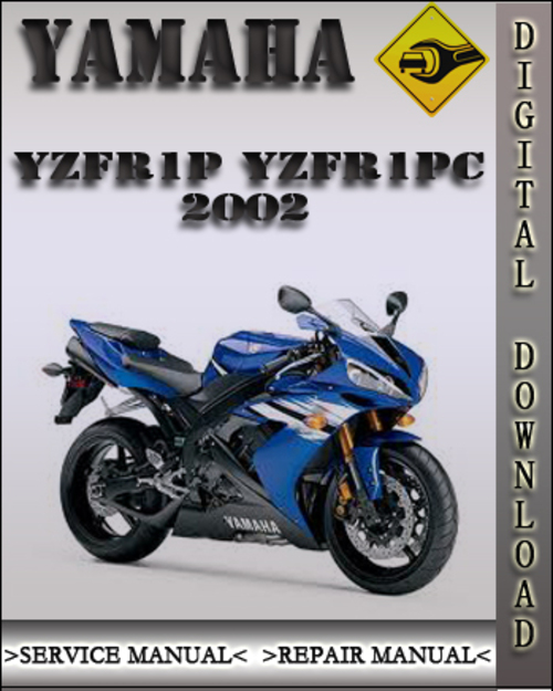 2002 yamaha yzfr1p yzfr1pc factory service repair manual. Black Bedroom Furniture Sets. Home Design Ideas