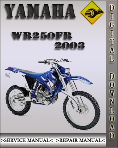 yamaha wr250 factory repair manual 1990 2007 download. Black Bedroom Furniture Sets. Home Design Ideas