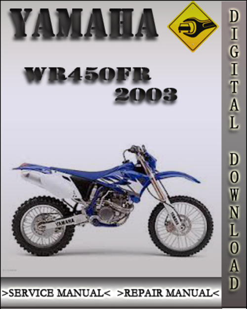 yamaha wr450 factory repair manual 1998 2007 download. Black Bedroom Furniture Sets. Home Design Ideas