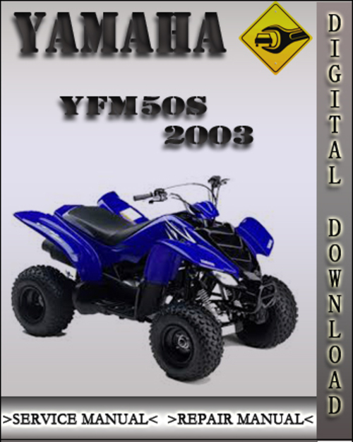 2003 yamaha yfm50s factory service repair manual. Black Bedroom Furniture Sets. Home Design Ideas