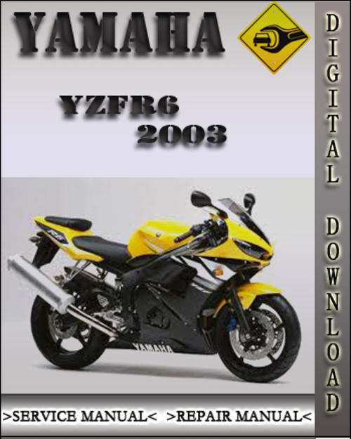2003 yamaha yzfr6 factory service repair manual download. Black Bedroom Furniture Sets. Home Design Ideas