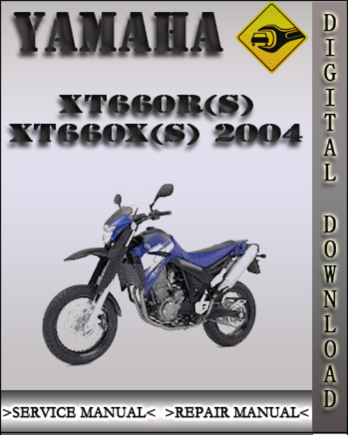 2004 yamaha xt660r s xt660x s factoryservice repair. Black Bedroom Furniture Sets. Home Design Ideas