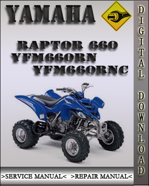 yamaha raptor 660 yfm660rn yfm660rnc factory service repair manual rh tradebit com raptor 660 manual 2003 raptor 660 manual pdf download