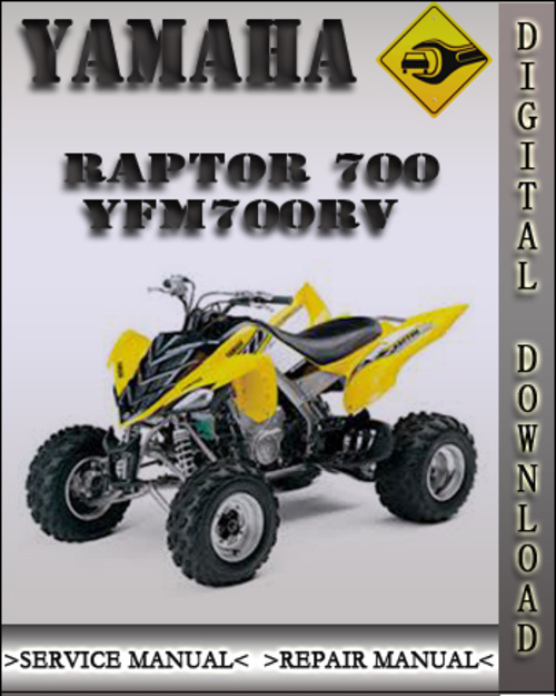 2006 yamaha raptor 700 yfm700rv factory service repair manual dow rh tradebit com Yamaha Raptor 700 R 2006 yamaha raptor 700 owners manual