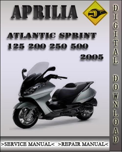 2005 Aprilia Atlantic Sprint 125 200 250 500 Factory Service Repair