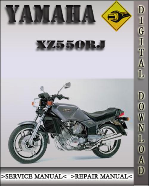 yamaha xz550rj factory service repair manual download. Black Bedroom Furniture Sets. Home Design Ideas