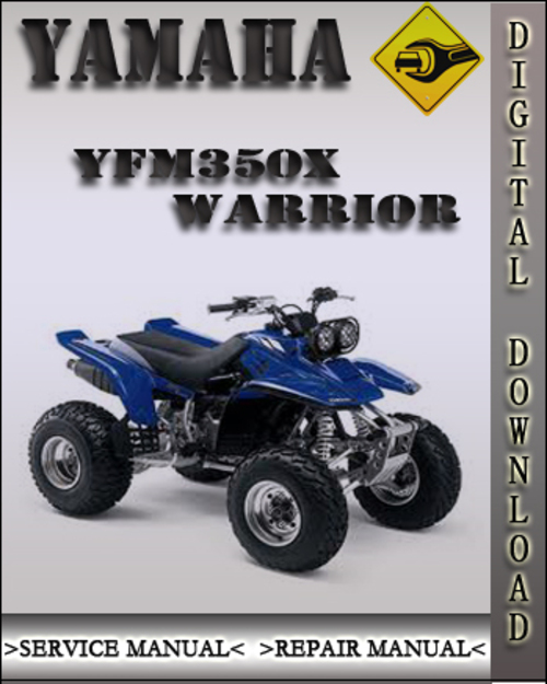 1997 yamaha yfm350x warrior factory service repair manual. Black Bedroom Furniture Sets. Home Design Ideas
