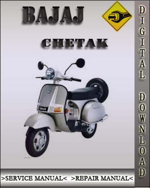 bajaj chetak factory service repair manual download manuals rh tradebit com bajaj chetak repair manual bajaj chetak 125 manual