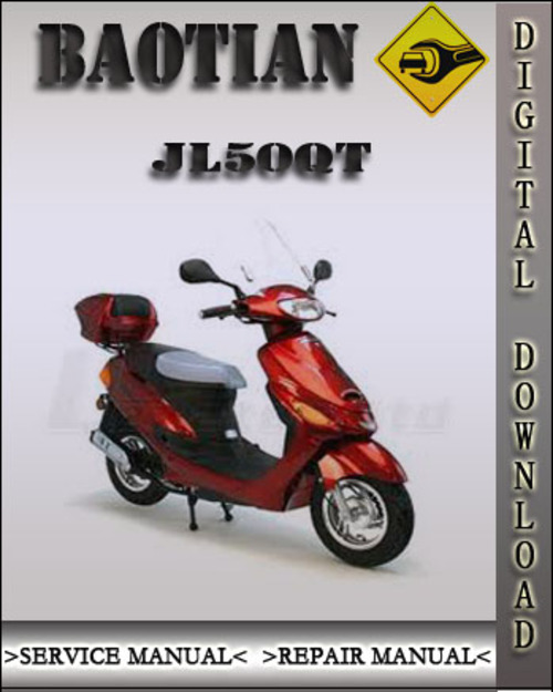 baotian jl50qt 18 scooter repair service manual