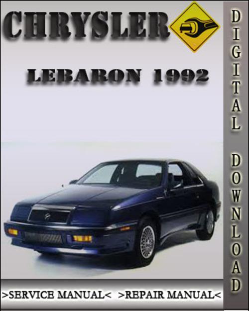 owners manual 1992 chrysler lebaron service manual pdf. Black Bedroom Furniture Sets. Home Design Ideas