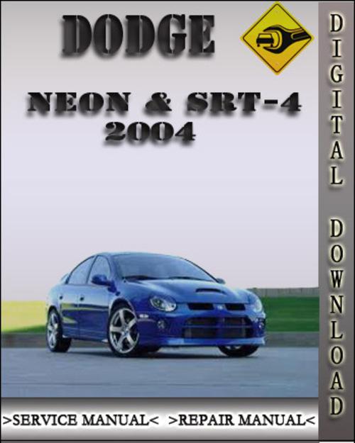 2004 Dodge Neon  U0026 Srt-4 Factory Service Repair Manual