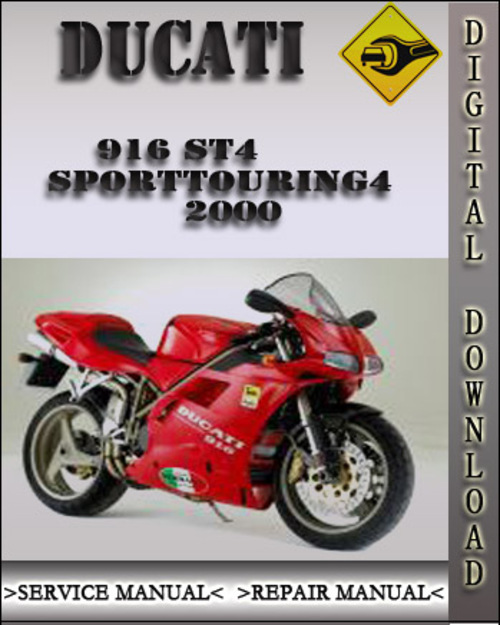2000 ducati 916 st4 sporttouring4 factory service repair. Black Bedroom Furniture Sets. Home Design Ideas