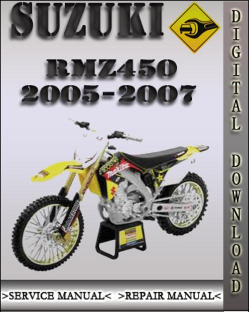 suzuki rmz450 factory service manual 2005
