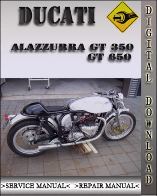 ducati alazzurra gt 350 gt 650 factory service repair. Black Bedroom Furniture Sets. Home Design Ideas
