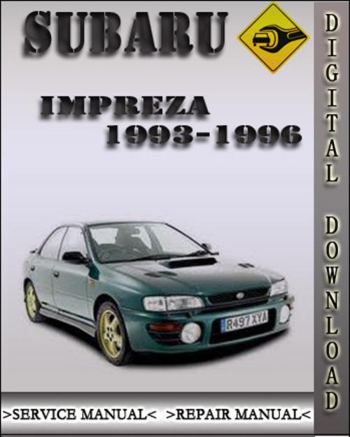 1993 1996 subaru impreza factory service repair manual 1994 1995 rh tradebit com Subaru WRX Subaru BRZ