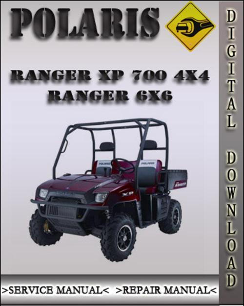 polaris ranger xp 700 4x4 ranger 6x6 factory service. Black Bedroom Furniture Sets. Home Design Ideas