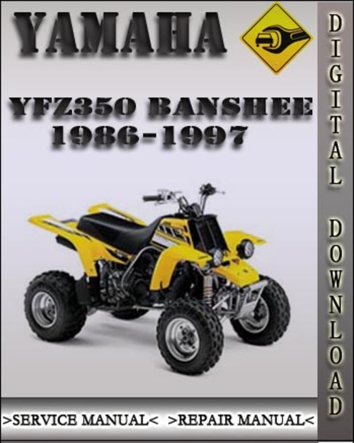 1986 1997 yamaha yfz350 banshee factory service repair. Black Bedroom Furniture Sets. Home Design Ideas