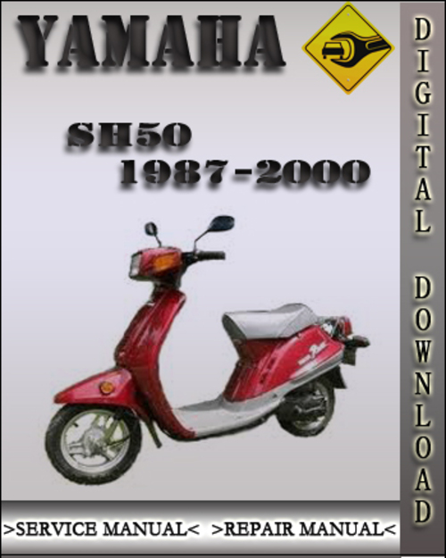 1987 2000 yamaha sh50 factory service repair manual 1988. Black Bedroom Furniture Sets. Home Design Ideas