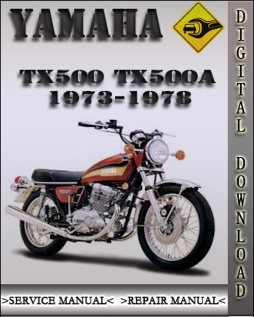 1973-1978 Yamaha TX500 TX500A Factory Service Repair Manual 1974 1975 on