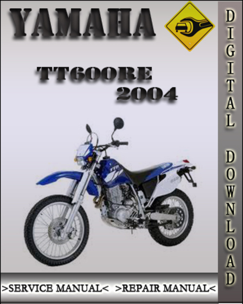 2004 yamaha tt600re factory service repair manual. Black Bedroom Furniture Sets. Home Design Ideas