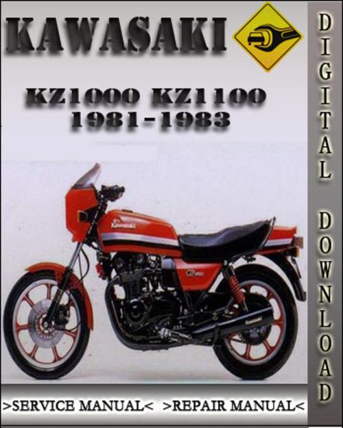 1981 1983 kawasaki kz1000 kz1100 factory service repair manual 1982 rh tradebit com Service Manuals kz1000 service manual pdf