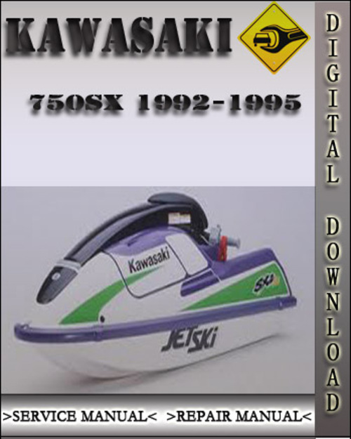 1992-1995 Kawasaki 750sx Jet Ski Watercraft Factory Service Repair Manual 1993 1994