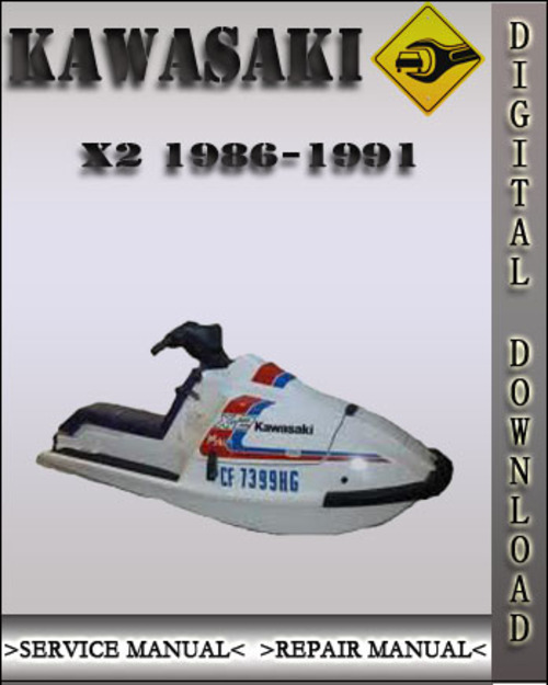 1986 1991 kawasaki x2 x 2 jet ski watercraft factory service repai rh tradebit com Waverunner 1990 Kawasaki TS 1990 Kawasaki 550 Sx Manual