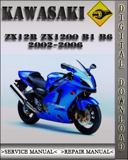 2002 2006 Kawasaki Zx12r Zx1200 B1 B6 Factory Service Repair Manual 2003 2004 2005 Tradebit