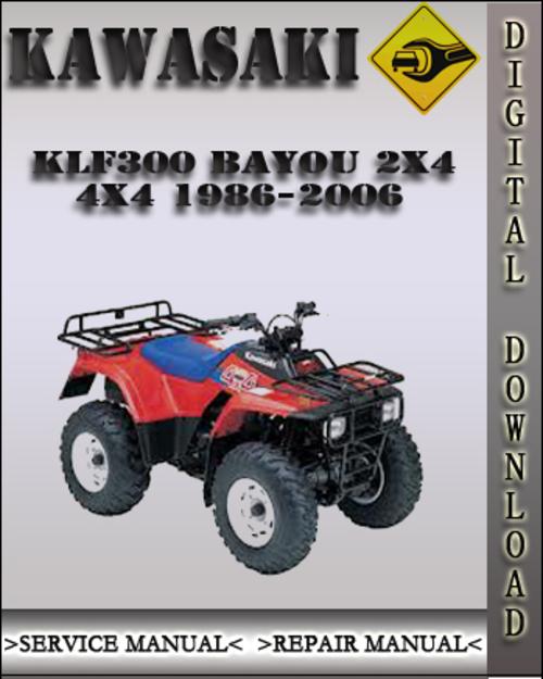 Kawasaki Bayou X Repair Manual