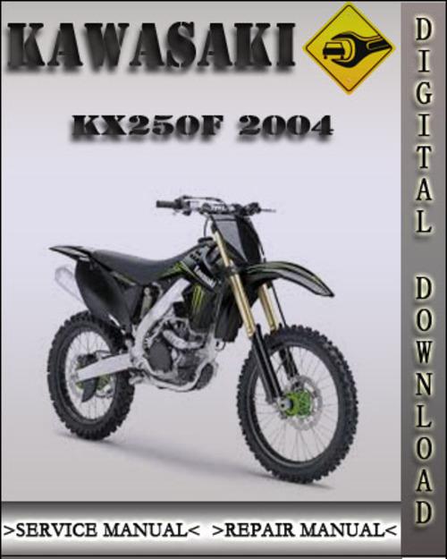 2004 kawasaki kx250f factory service repair manual download manua rh tradebit com 2004 kx250f service manual free download 2004 KX250F Valve Adjustment
