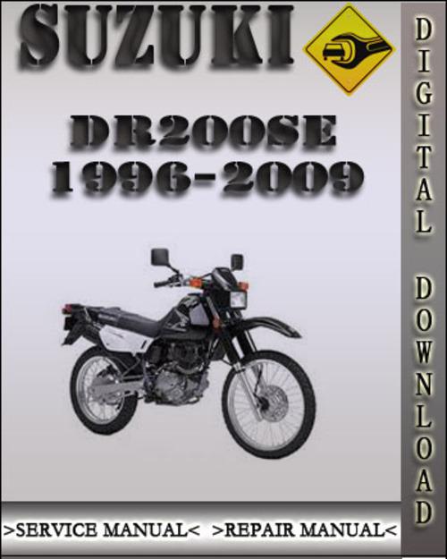 1996 2009 suzuki dr200se factory service repair manual 1997 1998 19 rh tradebit com Yamaha V Star 250 Suzuki Dr 200